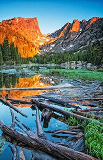 Dream Lake Summer Sunrise